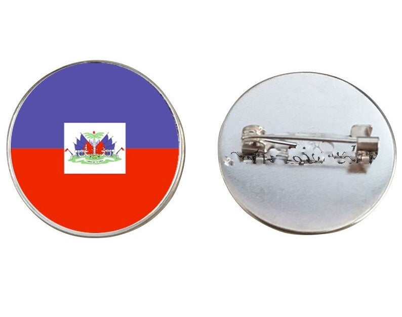Haiti Flag Brooch Pins
