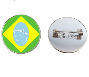 Brazil Flag Brooch Pins