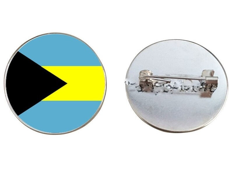 Bahamas Flag Brooch Pins