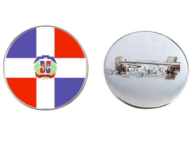 Dominican Flag Brooch Pins
