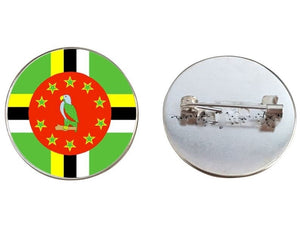 Dominica Flag Brooch Pins