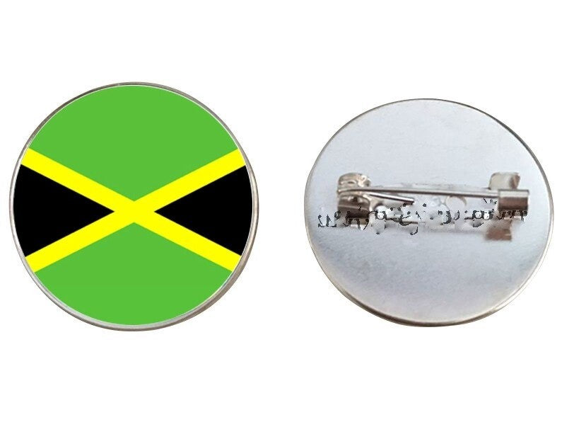 Jamaica Flag Brooch Pins