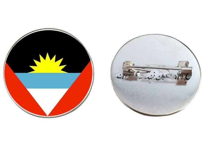 Antigua Flag Brooch Pins