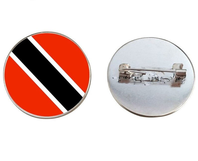 Trinidad & Tobago Flag Brooch Pins