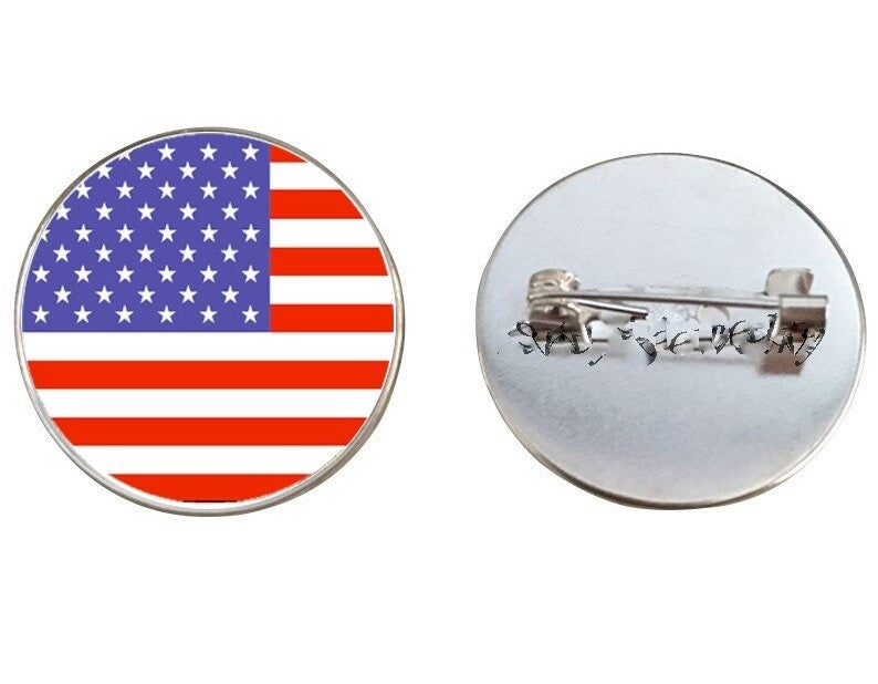 United States Flag Brooch Pins