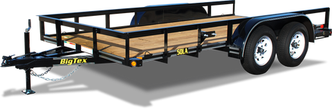 50LA Tandem Axle Angle Iron Utility Trailer, Big Tex
