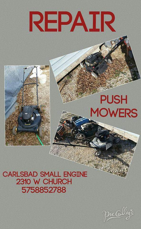 Small Engine Equipment repair- lawn mowers