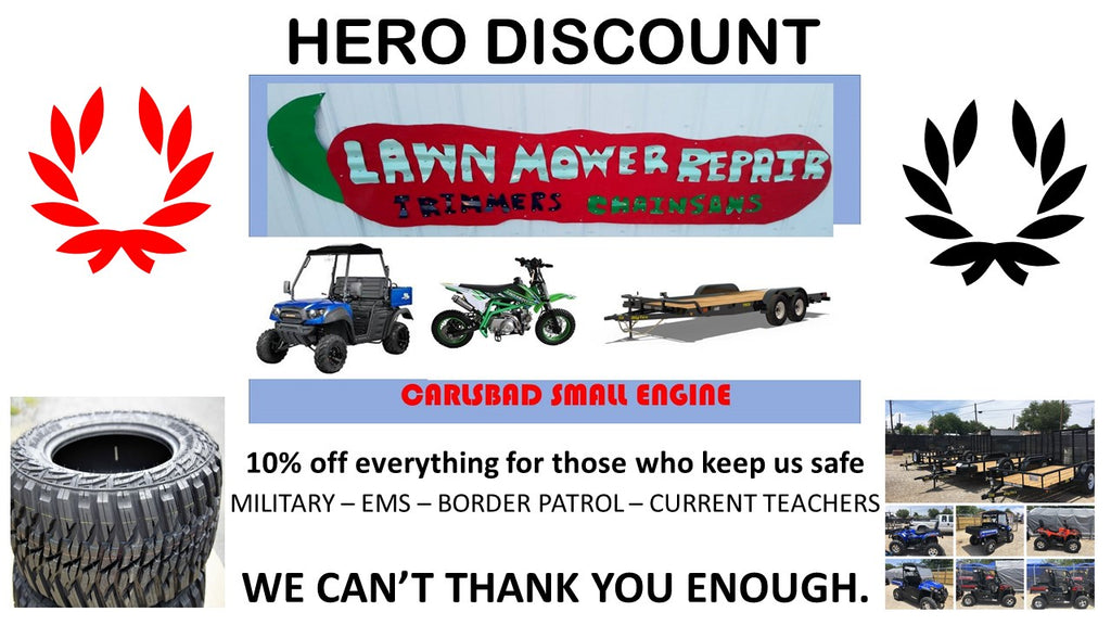 Hero discount 10% off all products and services