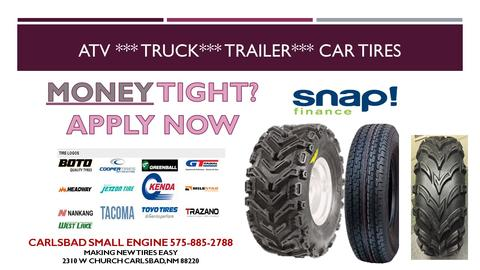 Financing for repairs and Tires Side by sides and atv