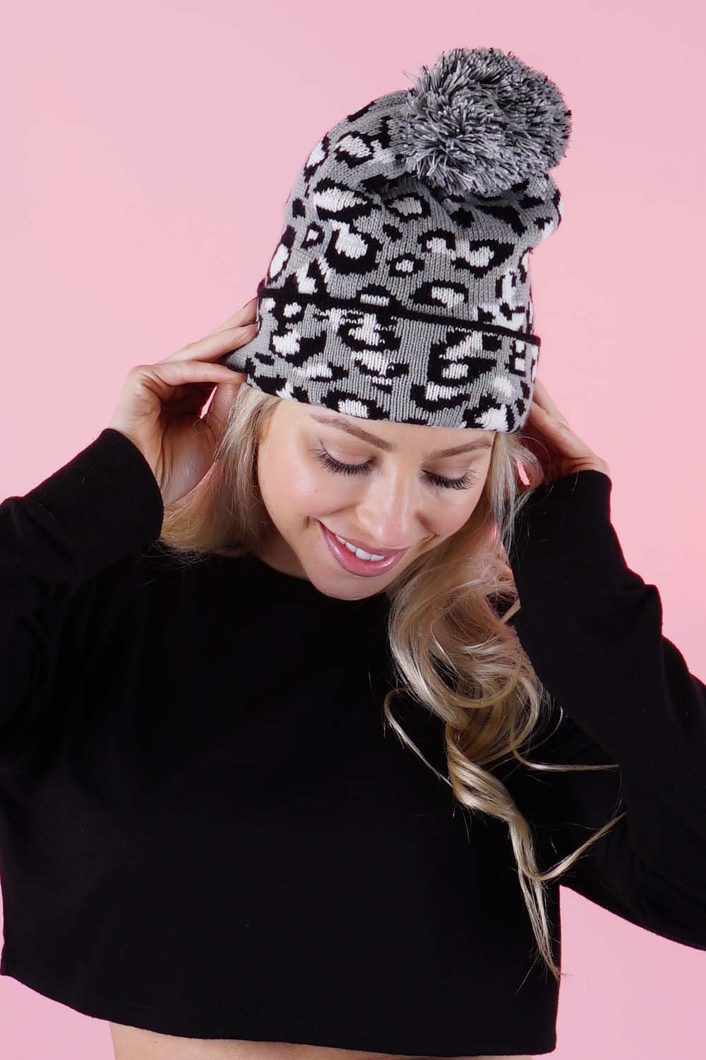 Women's Leopard Stocking Hat