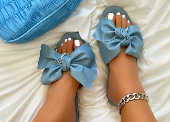 Big Bow Sandals - Blue