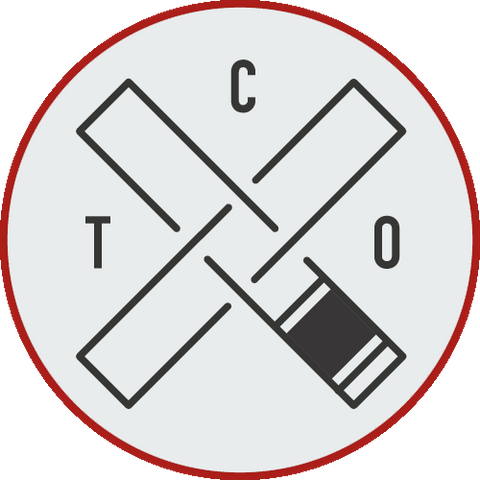 "TCO 9"" x 3"" Rectangular Logo Patch (White on Black)"