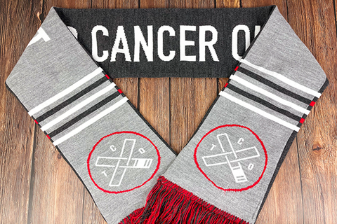 Tap Cancer Out Double-Sided Scarf
