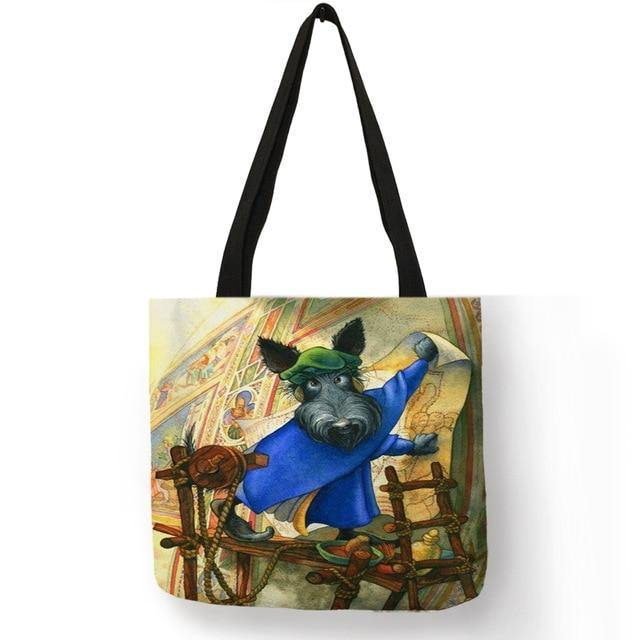 I nostri Scottish Terrier stampati su shopping bag di lino - DueGratis