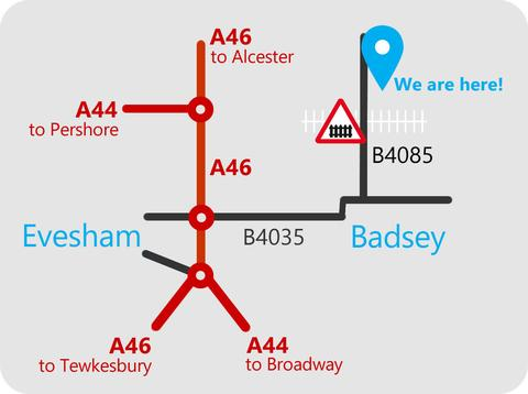 Come and visit our pretty rural retail shop in Blackminster near Badsey on the B4085 in the beautiful countryside of Evesham, Worcestershire