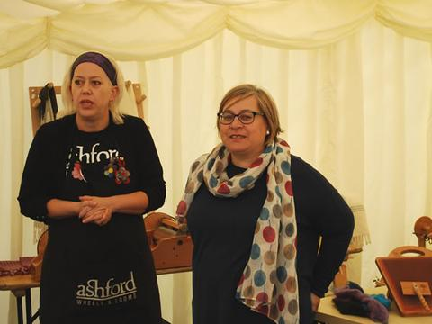 """Back in 2015 we hosted an Ashford big spin and weave day where over 70 enthusiastic spinners, weavers and fibre artists enjoyed a great day with special guest """"Kate Sherratt"""" from Ashford New Zealand"""