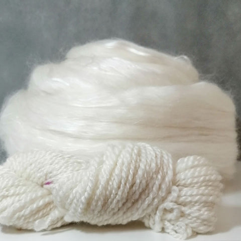 wool and silk blend for hand spinning