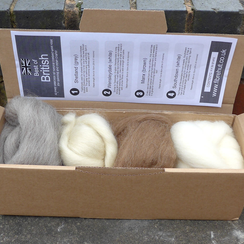 best of british fibre top wool roving