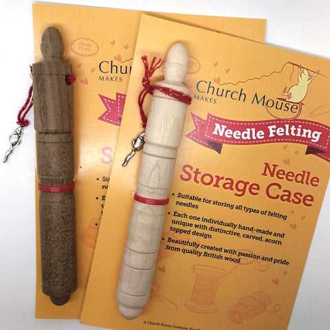 felting needle storage tube