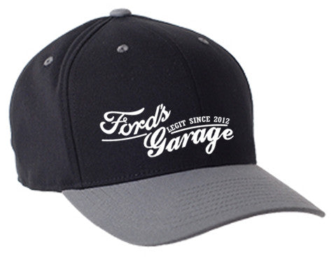 2017 Ford's Garage Hat Grey-Black Flex Fit