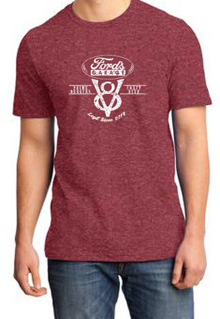 2017 Short Sleeve T Shirt Heather Red V8