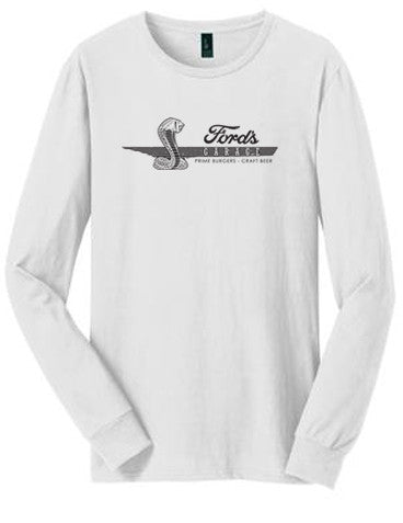 2017 Long Sleeve T Shirt White Cobra