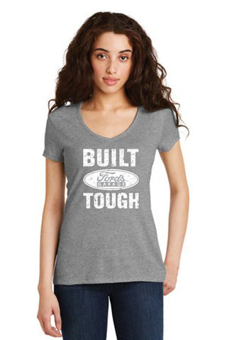 Built Ford Tough T Shirt Grey Ladies