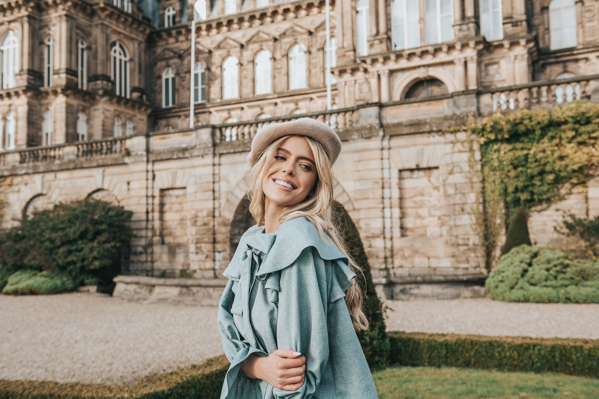 Emily in Paris vibes, we love the Marcella top styles with a beret! Delightfully feminine, easy cut to be worn with a skinny jean or tucked into a tailored trouser - she can be dressed up or down