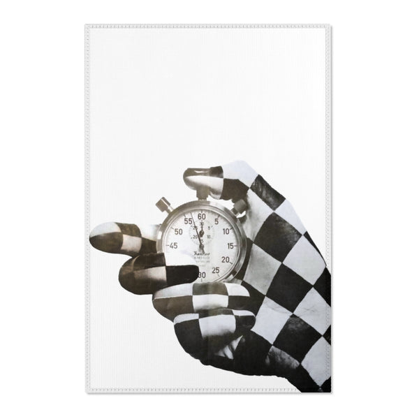 Checkered Flag - The Time Keeper - Area Rug