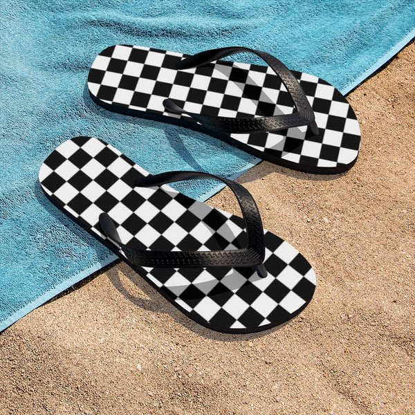Checkered Flag - Checkerboard - Unisex Flip-Flops