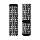 Race Track Tire Tread Sublimation Socks