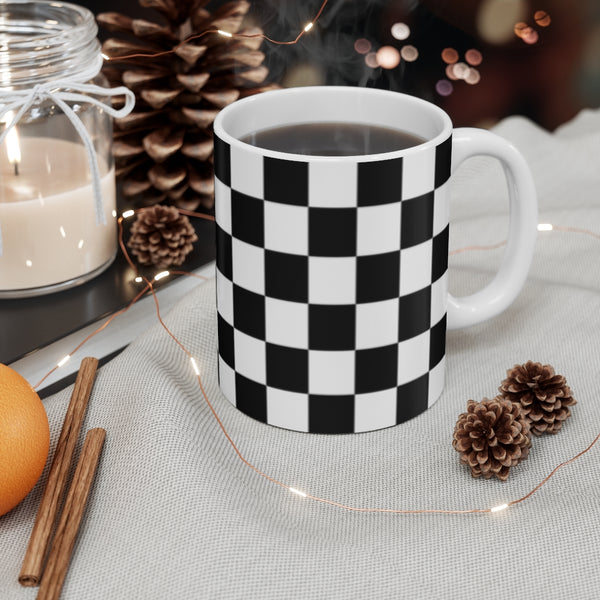 Checkered Flag - Checkerboard - Mug 11oz