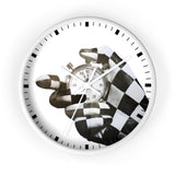 The Time Keeper - Checkered Flag - Wall clock