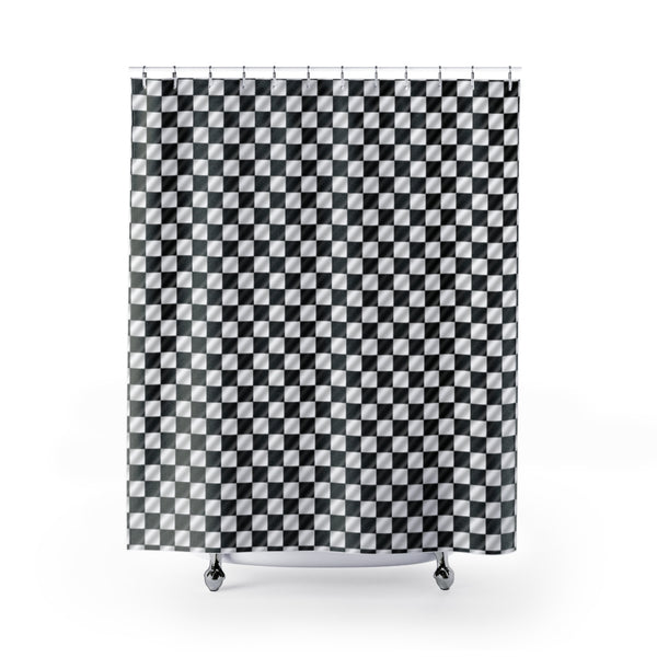 Checkered Flag - Checkerboard - Shower Curtains