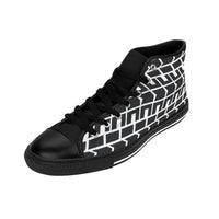Race Track Tire Tread Men's High-top Sneakers