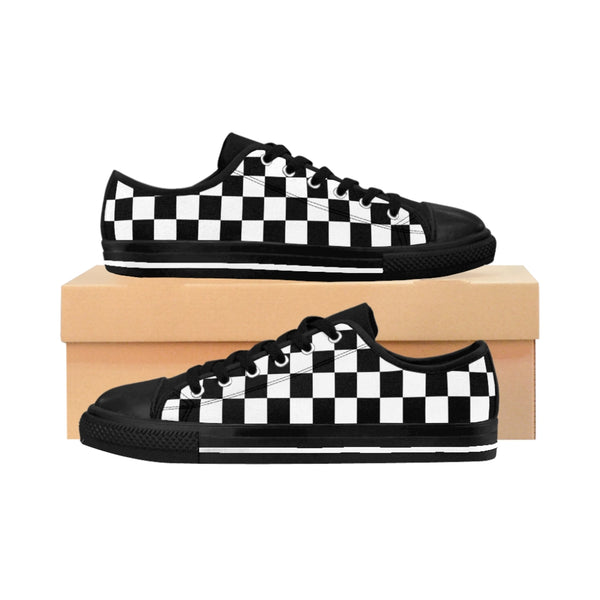Checkered Flag - Checkerboard - Men's Sneakers