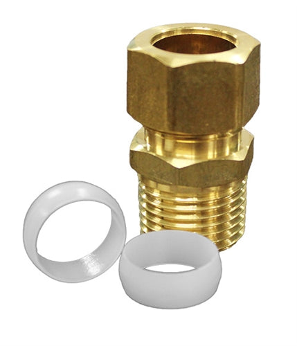 "Brass 1/2"" IPS x 5/8"" OD Complete Male Adapter Kit"