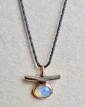 Load image into Gallery viewer, talisman necklace - opal + 10k gold