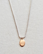 Load image into Gallery viewer, mini shield necklace 10k gold