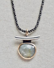 Load image into Gallery viewer, talisman necklace - sapphire + 10k gold