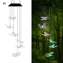 Load image into Gallery viewer, LED Solar Powered Butterfly Wind Chimes Light