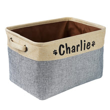 Load image into Gallery viewer, Personalized Dog/Cat Toy Storage Basket