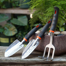 Load image into Gallery viewer, 3pcs/Set Mini Gardening Tools Wood Handle Stainless Steel