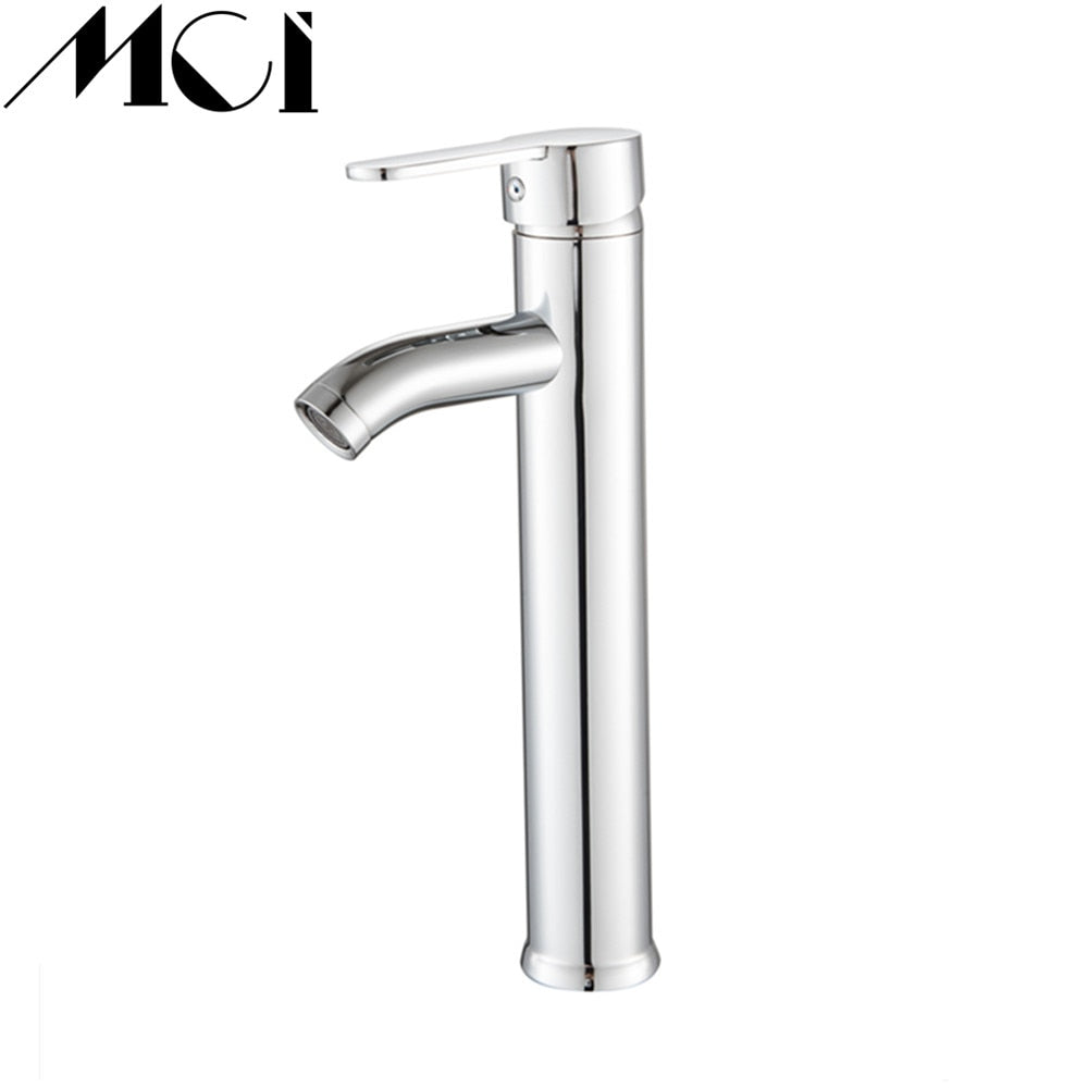 Chrome Finish Bathroom Basin Faucet Stainless Steel