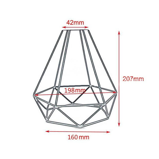 Decorations Black Retro Edison Metal Iron Wire Cage Lampshade