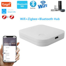 Load image into Gallery viewer, Tuya WIFI+Zigbee Hub Smart Gateway Multi-function Device Linkage Bluetooth Control