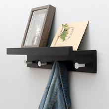 Load image into Gallery viewer, Creative Decor Wood Wall Hanging Shelf White Bamboo Hook Rack
