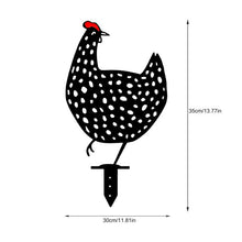 Load image into Gallery viewer, Chicken Yard Art Outdoor Garden Statues Metal Hen Yard Decor