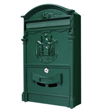 Load image into Gallery viewer, Large Retro Style Outdoor Lockable Secure Mail Letter Mailbox Vintage Metal Mail Box Garden Ornament
