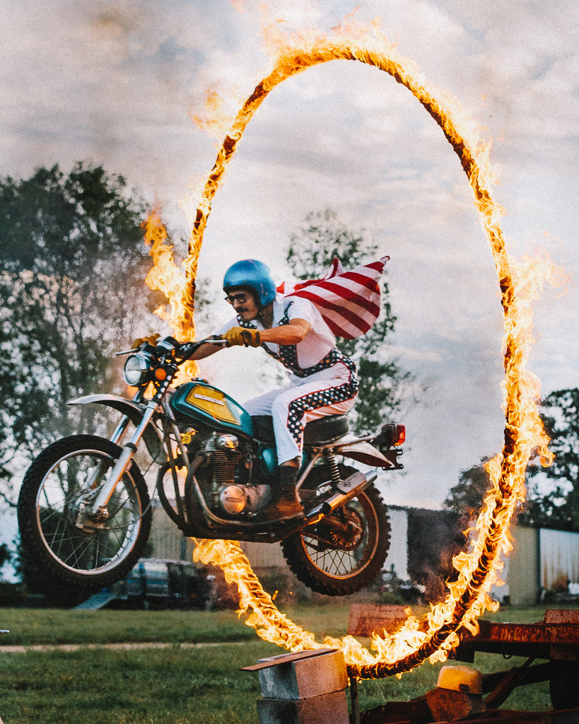 We Jumped a Motorcycle Through a Ring of Fire and Here's How